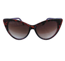 Años 50 Gafas De Sol Tortoiseshell Marilyn Rockabilly Catseye Calidad 100% Uv Retro