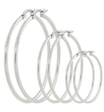 Stainless Steel Set of Round Three Hoop Earring