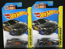 2 NEW HOT WHEELS HW OFF ROAD 2008 LANCER EVOLUTION BLACK MAXIMUM ATTACK