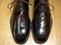 LITE WEAR! Men's Dress Shoes ROCKPORT Split Toe Oxfords Sz 10 M Brown Leather