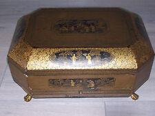 Boîte couture laquée  chinoise XIX eme