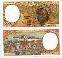 WEST AFRICAN STATES EQUATORIAL GUINEA 2000 FRANCS 2000 P 503 N AUNC ABOUT UNC