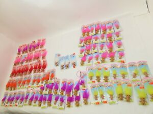 114 Vintage NOS Russ Troll Doll Necklace/Pins/True Love/Good Luck/Merry