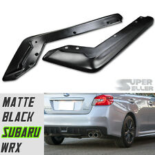 for SUBARU WRX BODYKIT REAR BUMPER LIP SPLITTER 2015+ MATTE BLACK