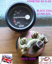 AUTO D'EPOCA 52mm Comparatore universale 60-60 amperometro TACHIMETRO NERO