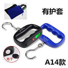 50kg portable luggage digital weight scale hook hanging balance