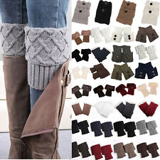 Women Ladies Boot Cuffs Boots Toppers Short Leg Warmer Socks Corchet Knitted