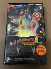A Nightmare on Elm Street 4 VHS 1988 Horror Robert Englund [Ex-Rental] 1 2 3