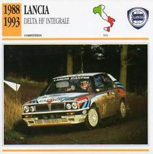 1988-1993 LANCIA DELTA HF INTEGRALE Racing Classic Car Photo/Info Maxi Card