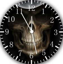 Skull Frameless Borderless Wall Clock For Gifts or Home Decor E163