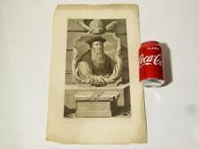 18thC Engraving Thomas Crammer by Adriaen van der Werff P.a. Gunst Sculps #A37*