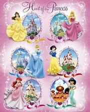 Disney Princess Castillos-Mini Poster 40 X 50 Cm (nuevo Y Sellado)