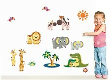 Asmi Collections PVC Wall Stickers Beautiful Animals and Their Kids