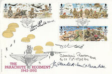 50th Anniv Parachute Regiment Signed General Hackett,Brig Pearson & Brig S J L H