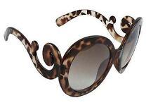 Lady Gaga Balrog Style Fashion Baroque Paparazzi Round Shape Sunglass - Leopard