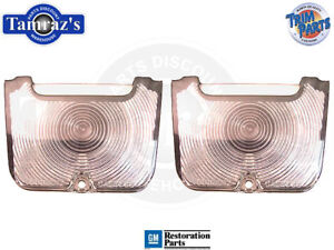 62-4 Chevy II Nova Tail Light Lamp Back Up Lens w/Gaskets PAIR Made in USA