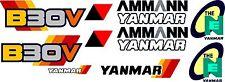 Yanmar B30V bagger-aufkleber-satz