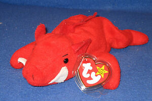 TY GRUNT the RAZORBACK BEANIE BABY- MINT with MINT TAG