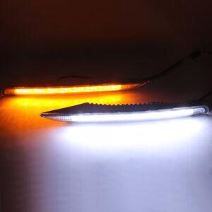 For Renault Koleos 2012-2014 LED Daytime Running Light White+Yellow Drive Lamp