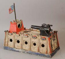 RARE Antique Samuel Clark HOLD THE FORT, Fort Sumter Cast Iron Mechanical Bank