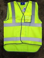 Hi Vis Hi Viz Vest High Visibility Waistcoat with Pocket Large, men and women