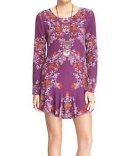 Free People NWT Smooth Talker Floral Print Tunic - Plum berry Combo Sz L. ($108)