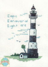 Cross Stitch Kit ~ Historic Lighthouse Cape Canaveral Light, FL #HD232 OOP SALE!