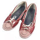 TOMMY HILFIGER Vintage Canvas Boat Shoes Lace Up Flag Logo Womens Size 8.5 M VGC
