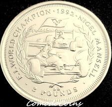 1993 Isle Of Man £2 Pounds Coin Nigel Mansell Formula F1 Champion Rare UNC