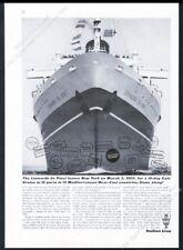 1964 SS Leonardo Da Vinci ship photo Italian Line travel vintage print ad