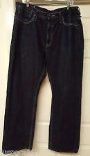 Artful Dodger Men's Blue w/ Burgundy Design Pockets Jeans Size 42/32