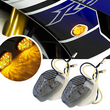 2Pcs Smoke Flush Mount LED Turn Signal Light Blinker fit Yamaha YZF R1 R6 R6S
