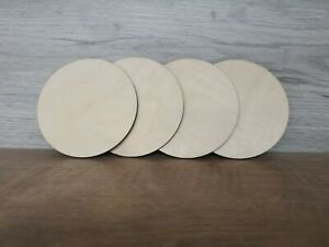 Wooden laser cut round blank coasters 3mm ply (set of 4)