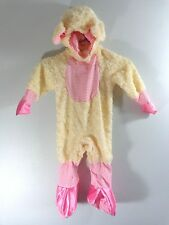 Rubies PINK LUCKY LIL LAMB Costume 12-18 Months Plush White Bodysuit and Hat