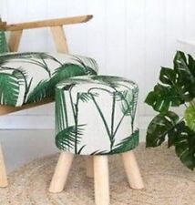 Wooden Green Footstools