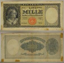 ITALIA ITALY Mille  1000 LIRE 20/03/1947  MEDUSA  #BI181