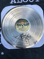 KISS Hotter Than Hell PETER CRISS IN PERSON SIGNED GOLD Record -SUPER RARE PIECE
