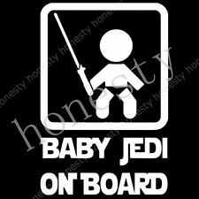 1pc Baby Jedi on Board Star Wars Vinyl Cut Decal Sticker Car Auto Window Wall
