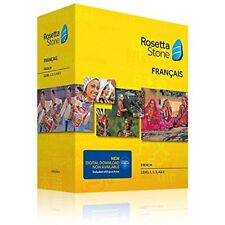 Rosetta Stone V4 TOTALe French Level 1-5 Set for PC, Mac Free USA Shipping New