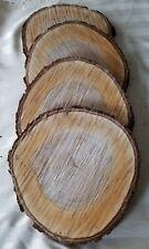 """4 piece 10""""Maple Log Slices Wood Disk Round Wedding Centerpiece Coaster slab"""