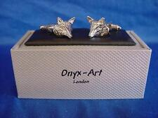 CUFFLINK SET - FOX HEAD - IDEAL HUNTING PRIZE, TROPHY OR MENS GIFT (CK624)