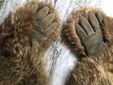 Vintage Handmade Fur Gloves/Hand Warmers Antiques
