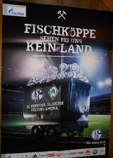 Spielplakat - 21.02.2015 - FC Schalke 04 vs. Werder Bremen + Neue Motivserie +