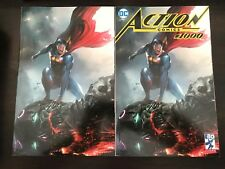 Action Comics #1000 DC 2018 Mattina Virgin set Trade variant cover NM 9.4 Unread