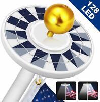 Solar Flag Pole Light 128 LED Light, Super Bright Led Solar Powered Lights on