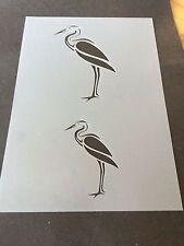 Heron Oiseau Mylar Réutilisable Pochoir Aérographe Peinture Art Craft bricolage Home Decor