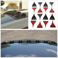 8 Pcs Universal Car Roof Black Vortex Generators Shark Fin Spoiler Wing Diffuser