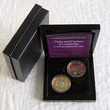 Duques de Cambridge Oro/rodio en capas 2 corona prueba de conjunto