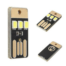 Fashion 5 PCS USB LED Keychain Torch Night Light Power Pocket Card Mini