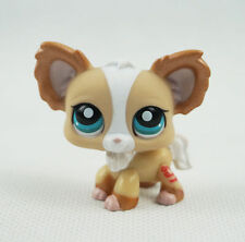 Littlest Pet Shop LPS 855 Puppy Blue Eyes Chihuahua Dog Tan Shimmer Toys